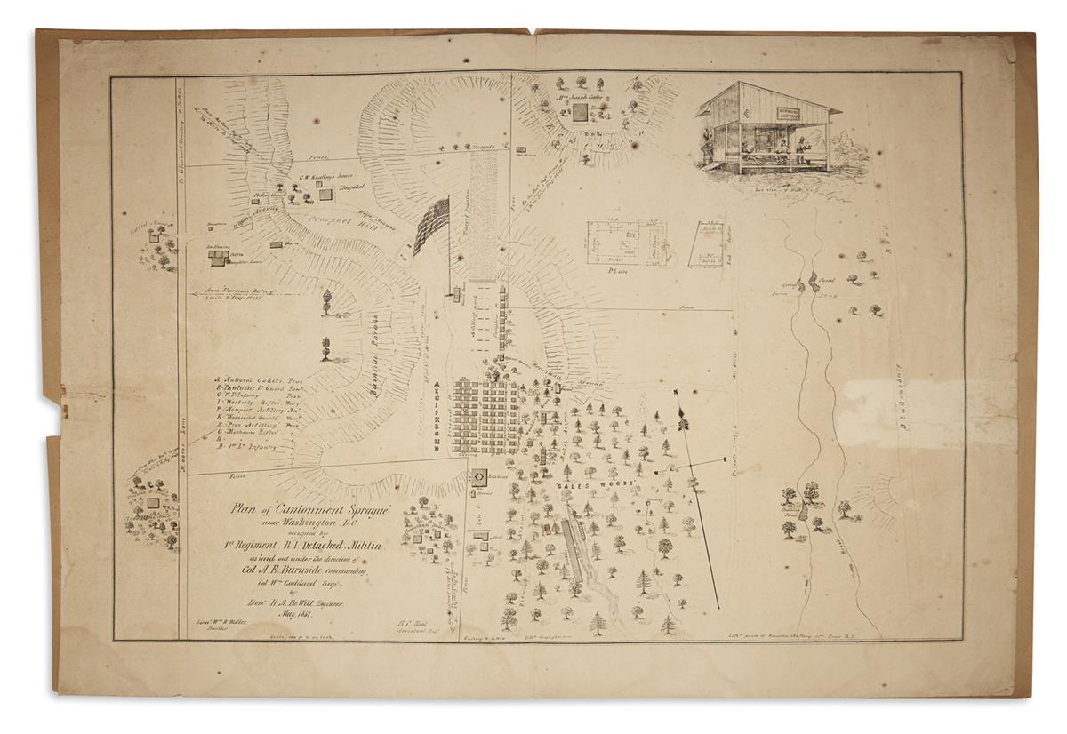 (CIVIL-WAR--MAPS)-DeWitt-HA-Plan-of-Cantonment-Sprague-near-