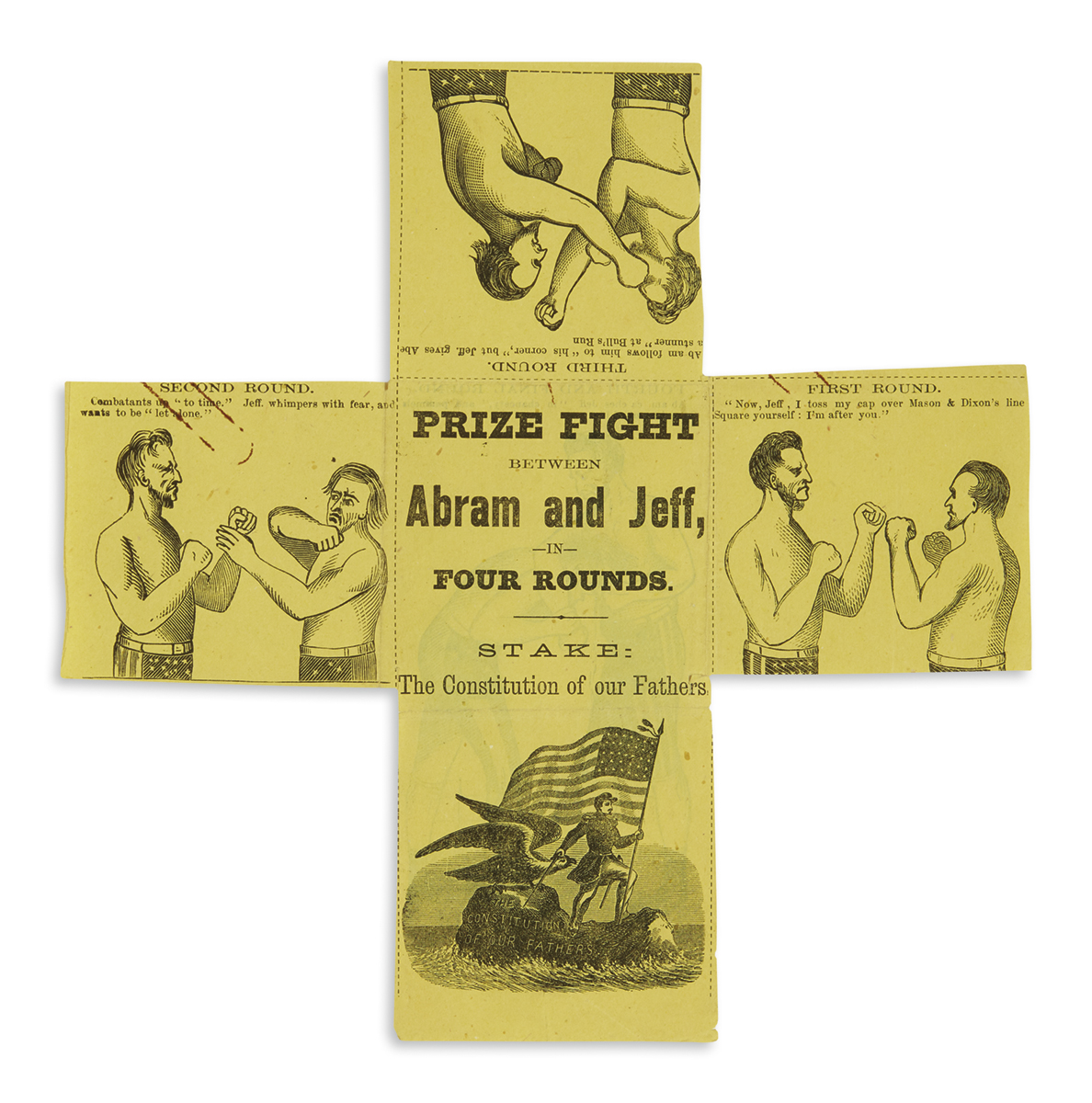 (PRINTS--CARTOONS)-Prize-Fight-Between-Abram-and-Jeff-in-Fou