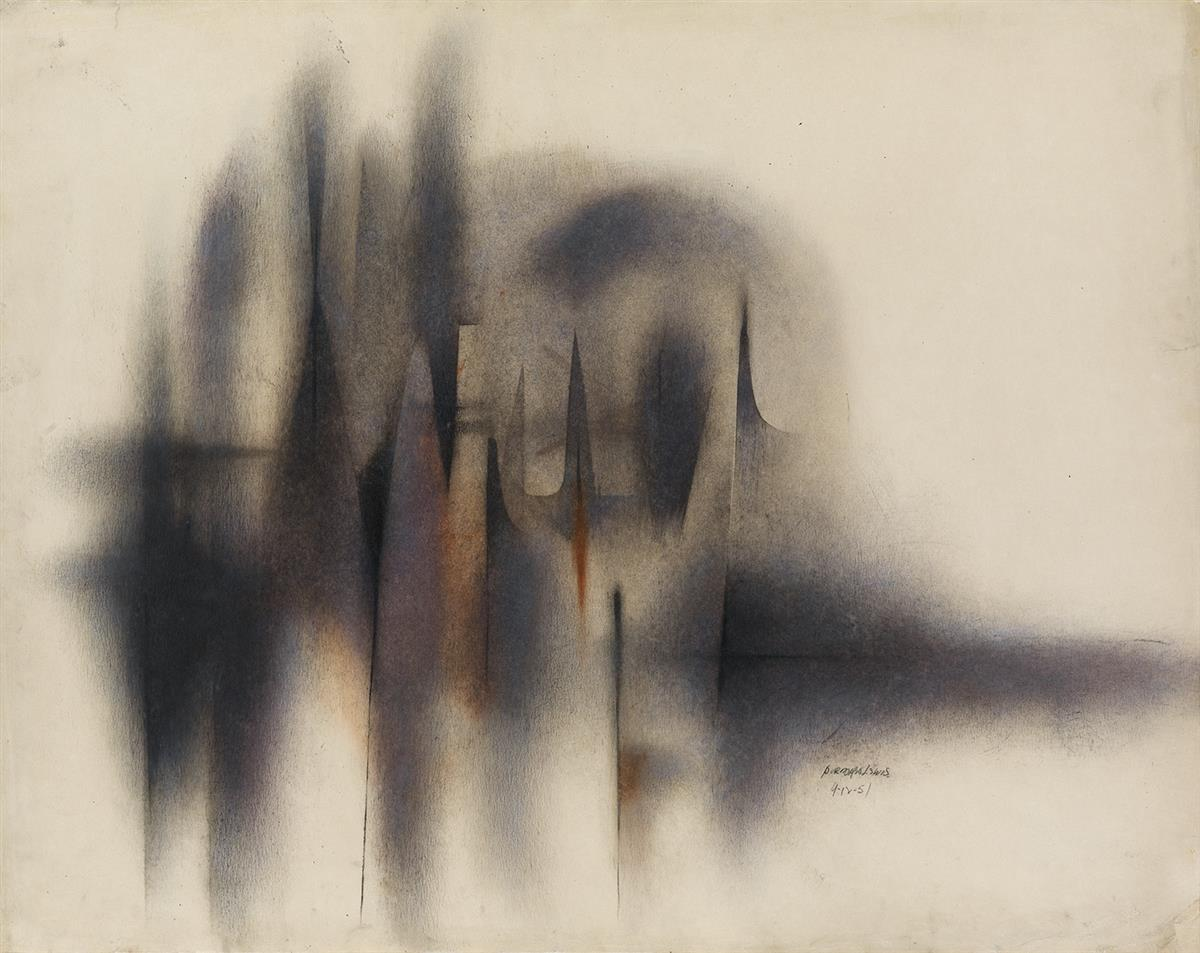 NORMAN-LEWIS-(1909---1979)-Untitled-(Abstract-Composition)