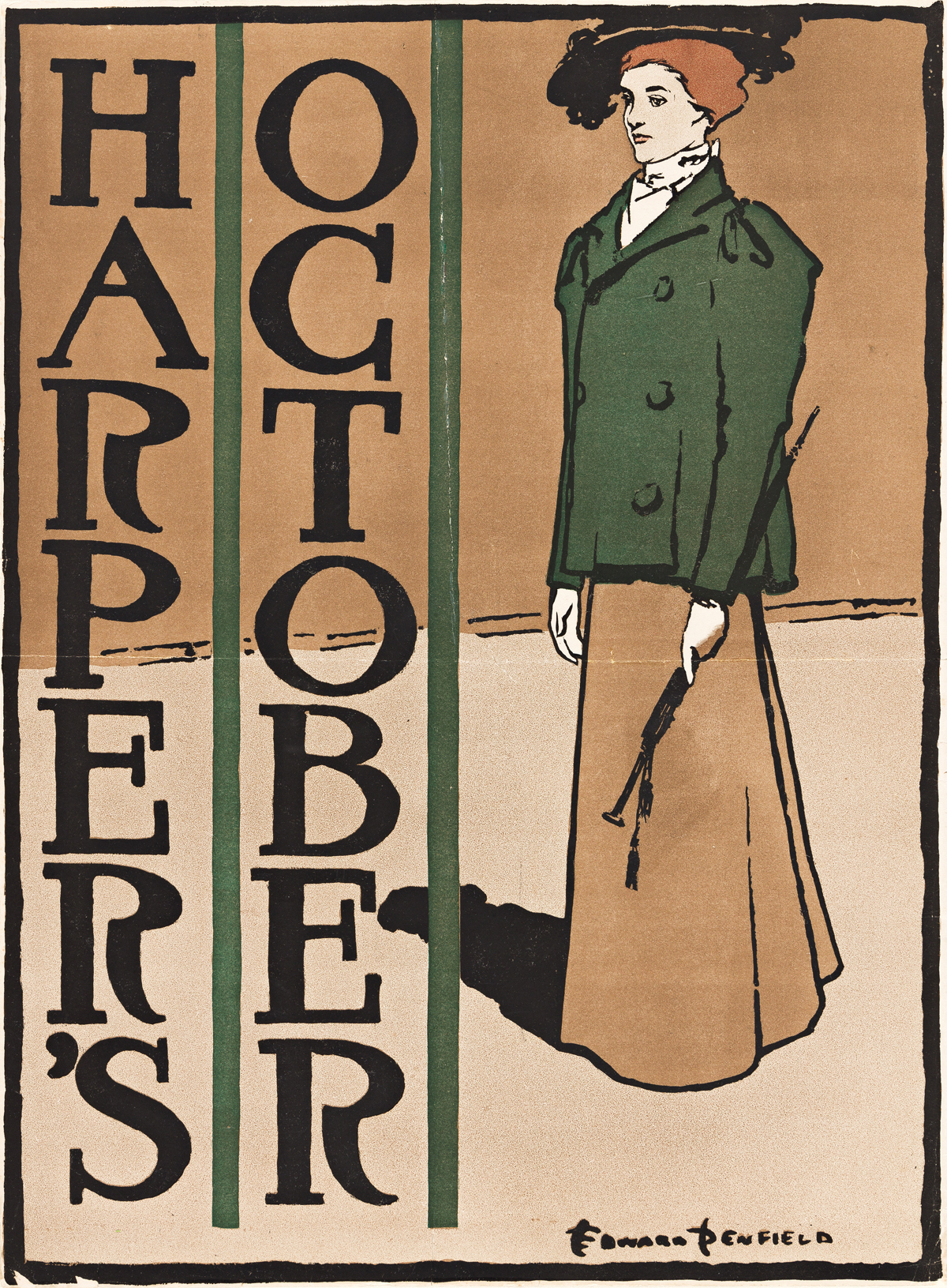 EDWARD PENFIELD (1866-1925).  HARPERS OCTOBER. 1897. 19x14 inches, 49x36 cm.