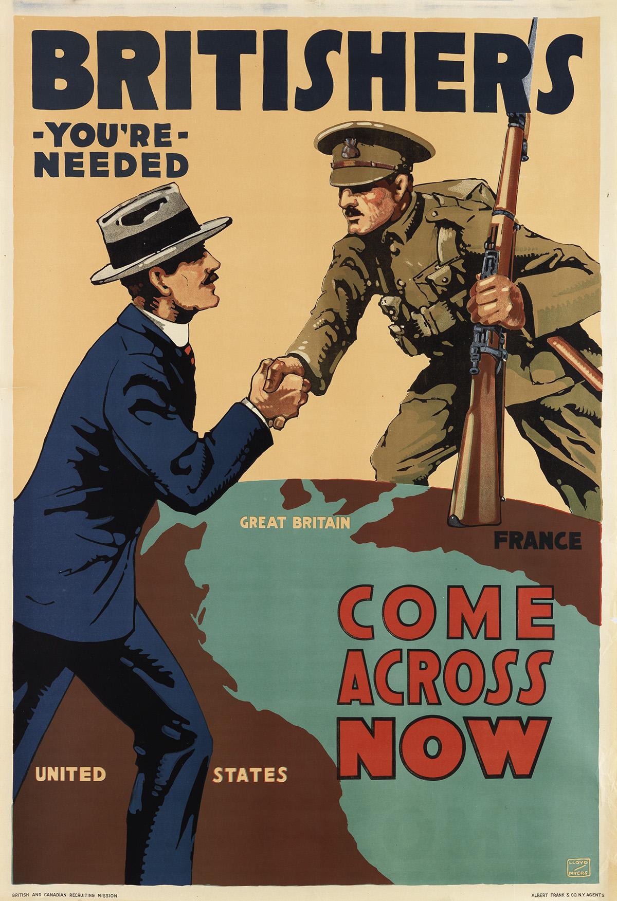 LLOYD-MYERS-(1882-1955)-BRITISHERS-YOURE-NEEDED--COME-ACROSS