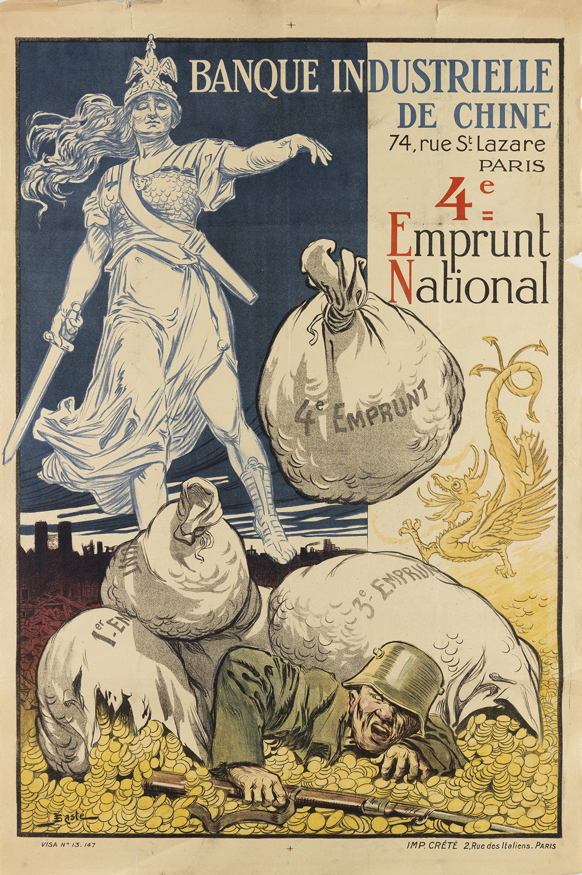VARIOUS-ARTISTS-[FRENCH-WORLD-WAR-I]-Two-posters-Circa-1917-