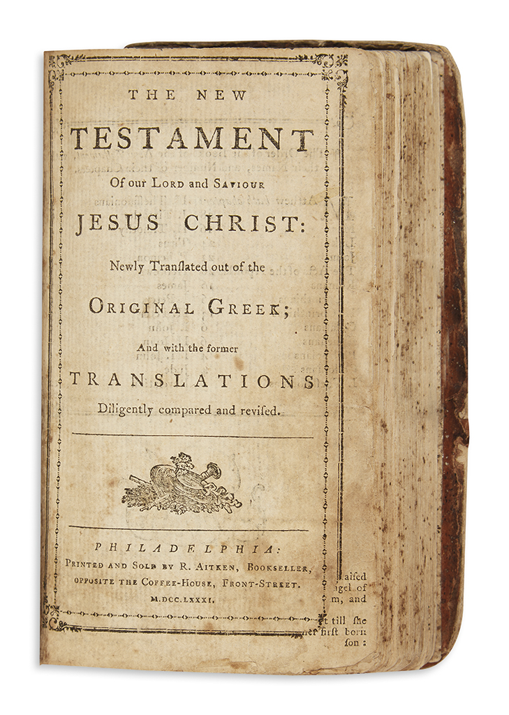 (BIBLE IN ENGLISH.) [The Holy Bible, Containing the Old and New Testaments: Newly Translated out of the Original Tongues.]