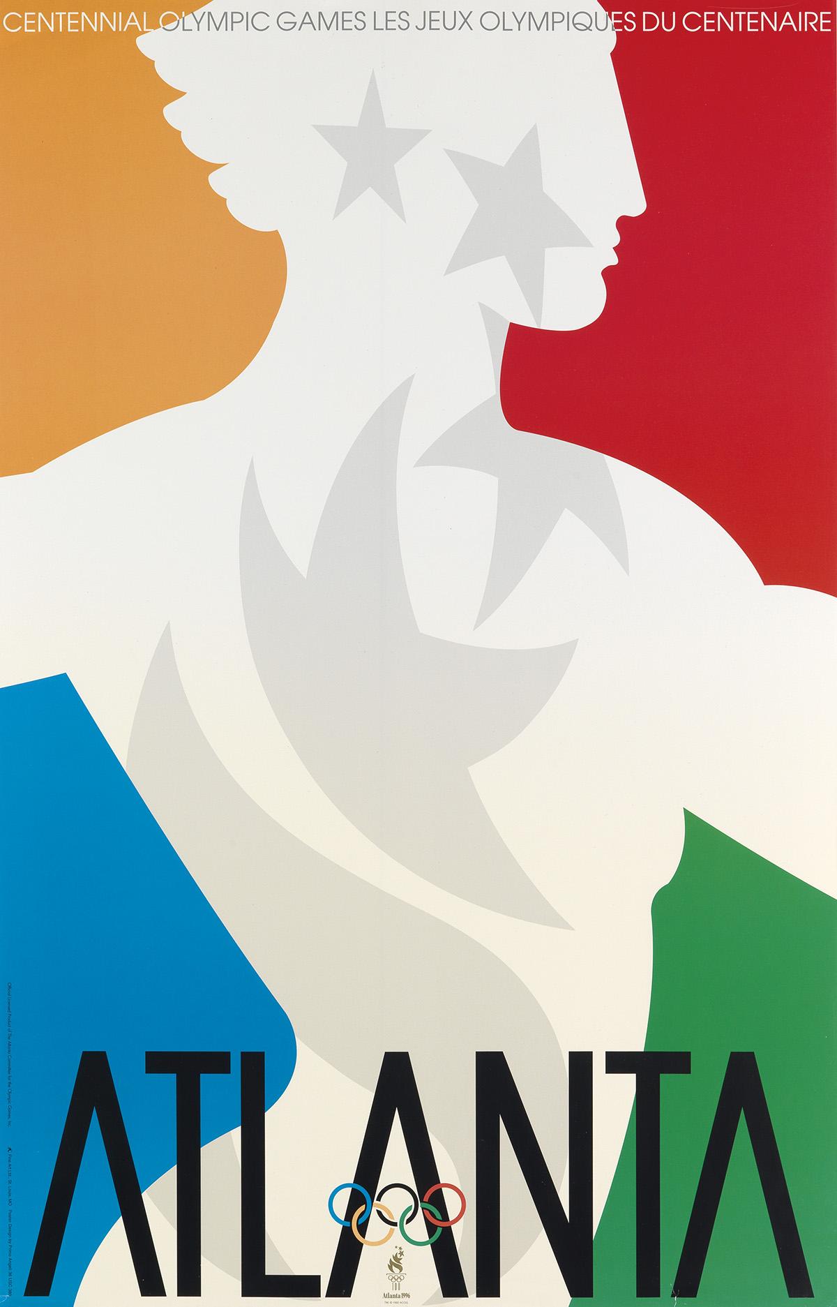 PRIMO-ANGELI-(1931-2003)-ATLANTA-OLYMPICS-1996-34x22-inches-