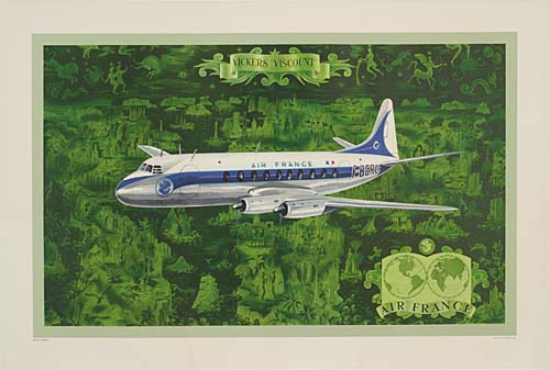 AIR-FRANCE--VICKERS-VISCOUNT-28x42-inches-Perceval-Press