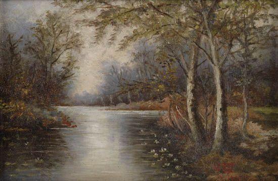GWENDOLYN BENNETT (1902 - 1981) Untitled (River Landscape).