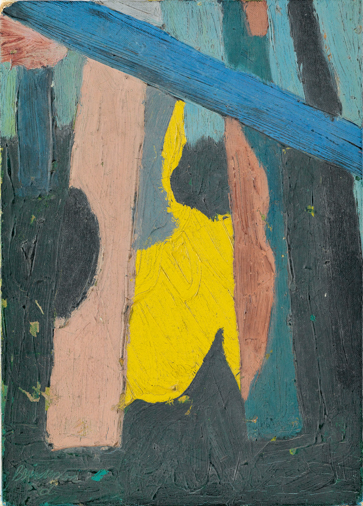 BOB-THOMPSON-(1937---1966)-Untitled-(Seated-Yellow-Figure)