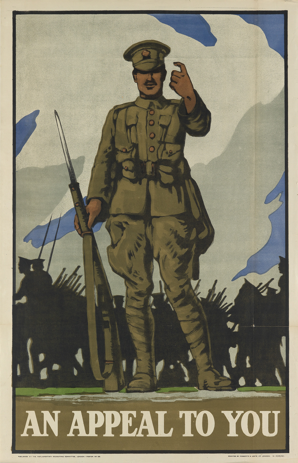 VARIOUS ARTISTS. [WORLD WAR I.] Group of 14 posters. Sizes vary.