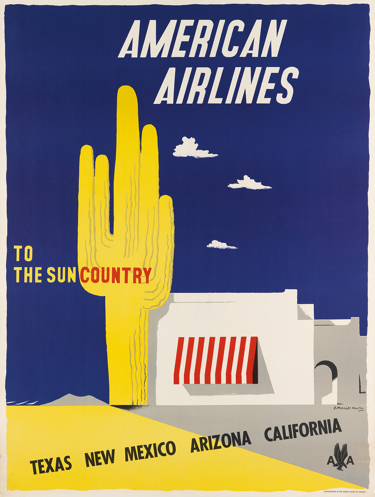 EDWARD-MCKNIGHT-KAUFFER-(1890-1954)-AMERICAN-AIRLINES--TO-TH