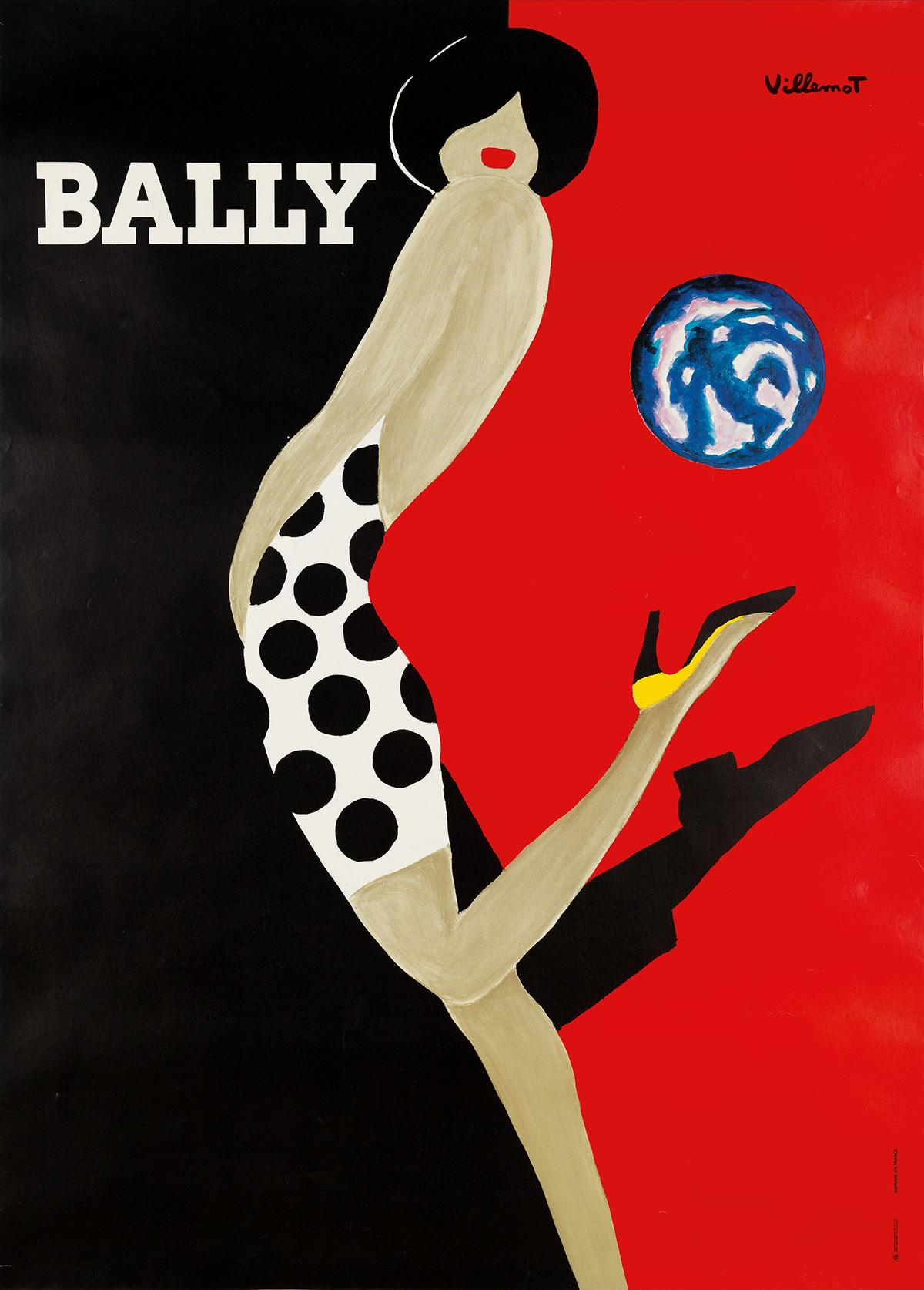 BERNARD VILLEMOT (1911-1989). BALLY. 1989. 68x45 inches, 173x116 cm. A. Karcher, Paris.
