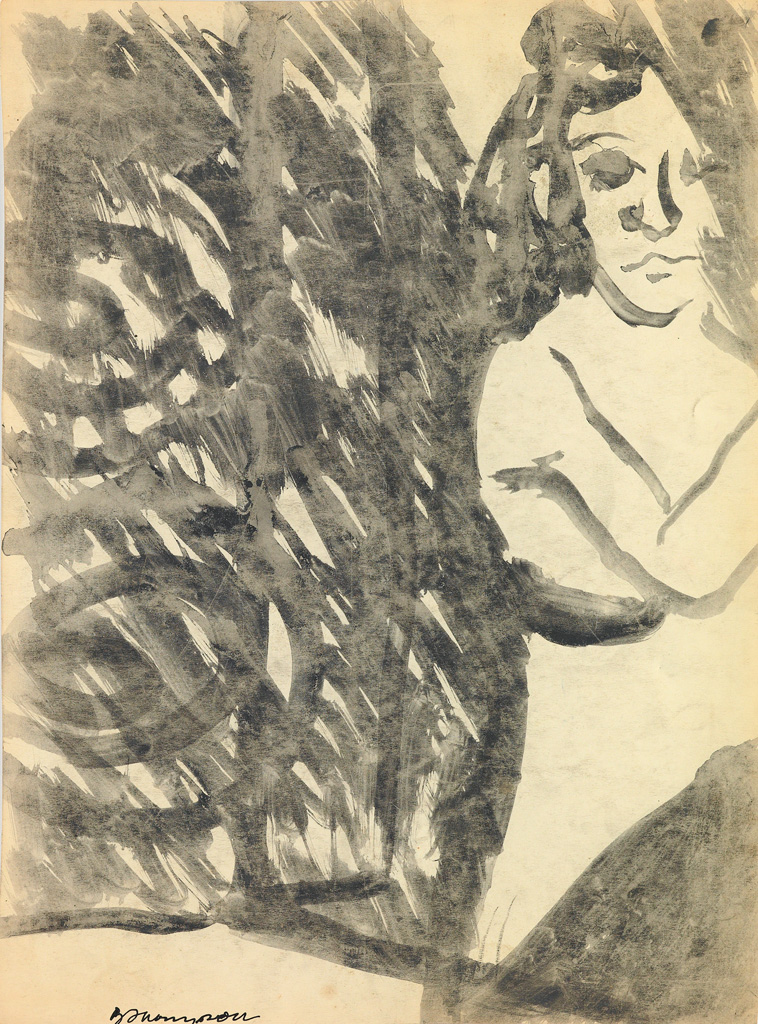 BOB-THOMPSON-(1937---1966)-Untitled-(Standing-Nude)