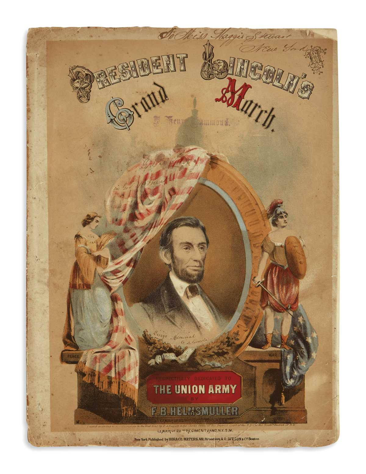 (EPHEMERA)-5-pieces-of-illustrated-Lincoln-music