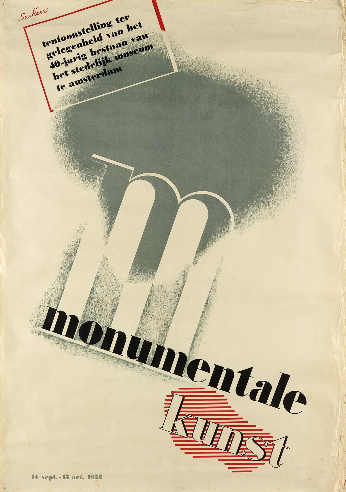 WILLEM-SANDBERG-(1897-1984)-MONUMENTALE-KUNST-1935-39x27-inc