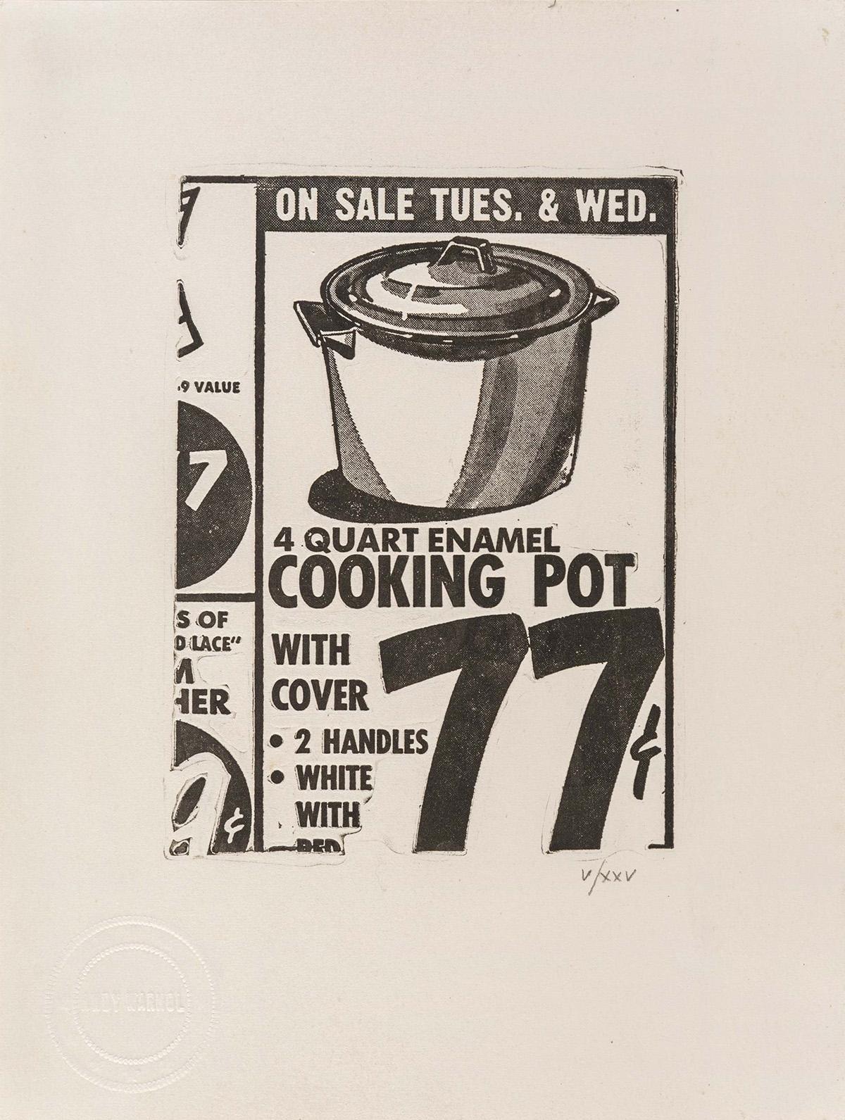 ANDY WARHOL Cooking Pot.