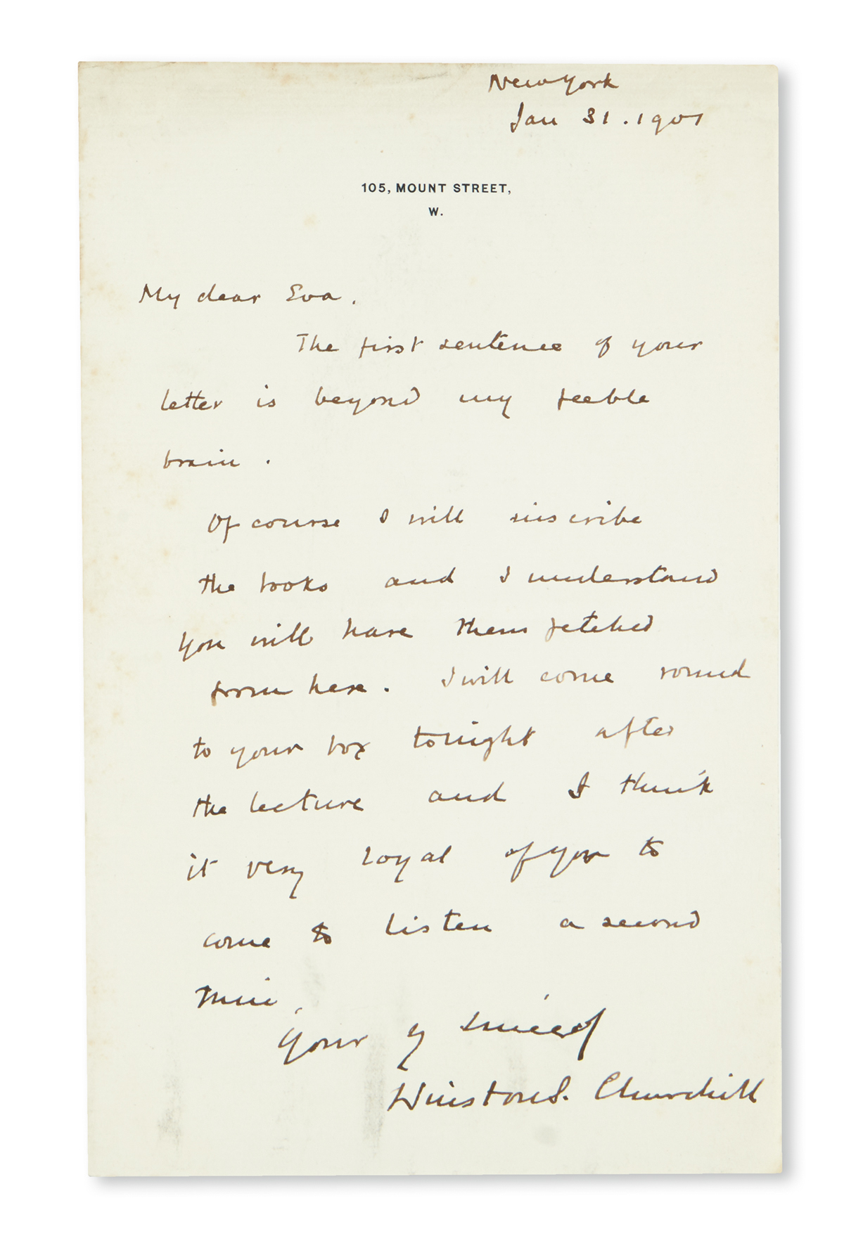 CHURCHILL-WINSTON-S-Two-items-Autograph-Letter-Signed--Churc