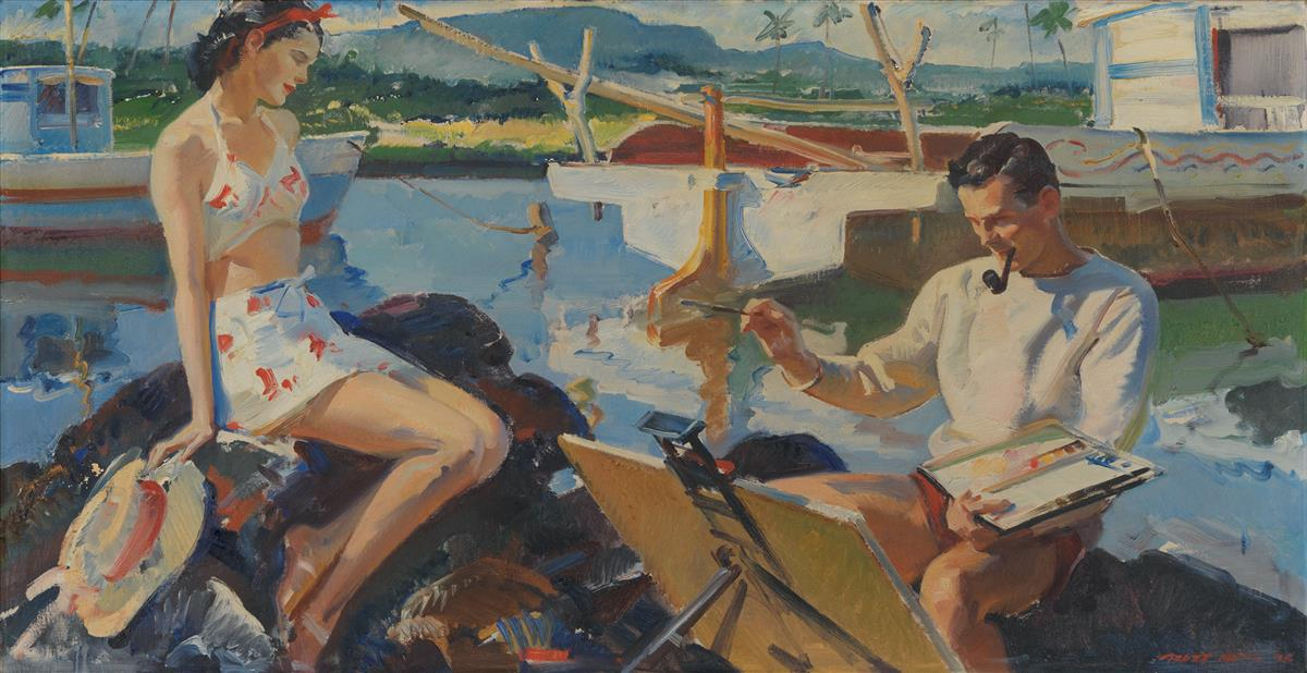 PRUETT CARTER. In those days they both had but one supreme objective...Crane was to be a renowned painter. [HAWAII]
