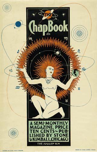 CLAUDE FAYETTE BRAGDON (1866-1946) THE CHAP BOOK. Circa 1895. 21x13 inches. Stone & Kimball, Chicago.