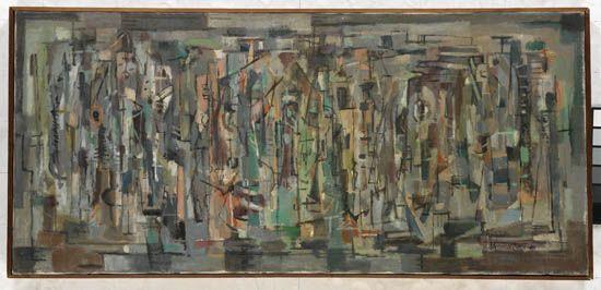 NORMAN LEWIS (1909 - 1979) Crossing.