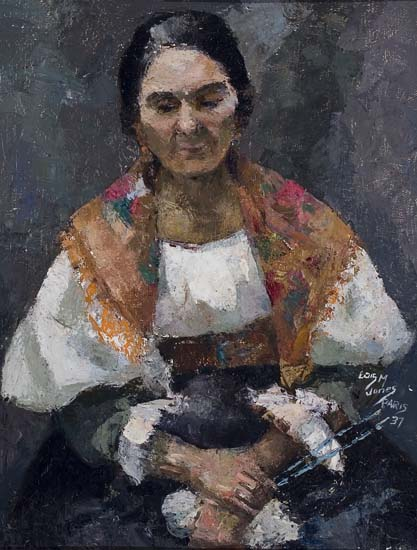 LÖIS-MAILOU-JONES-(1905---1988)-Seated-Woman-with-Shawl