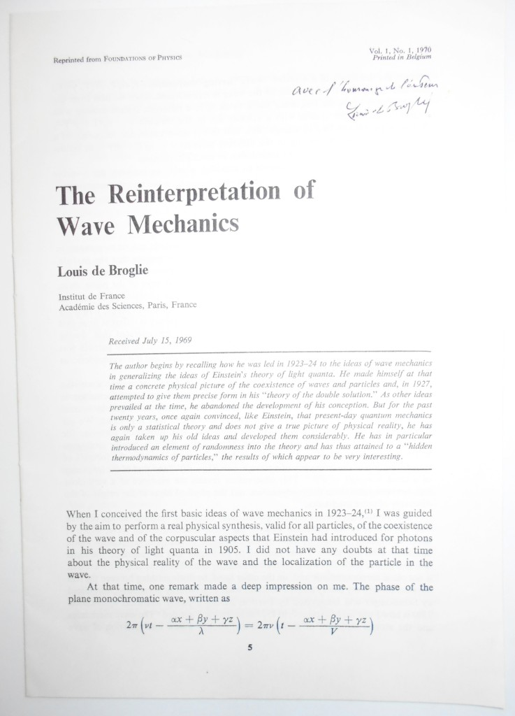 (SCIENTISTS)-BROGLIE-LOUIS-VICTOR;-PRINCE-DE-Two-offprints-o