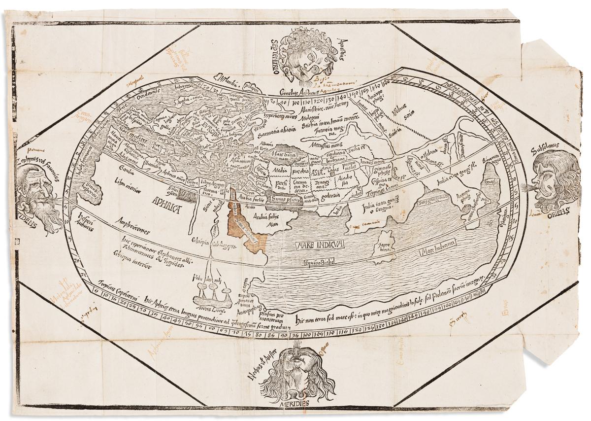 REISCH, GREGOR. [Untitled Ptolemaic World Map].