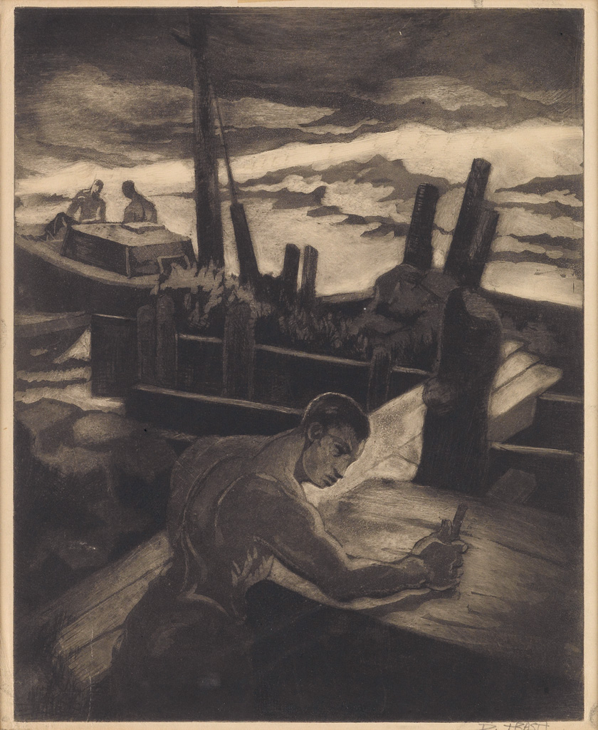 DOX THRASH (1893 - 1965) Untitled (Boat Workers).