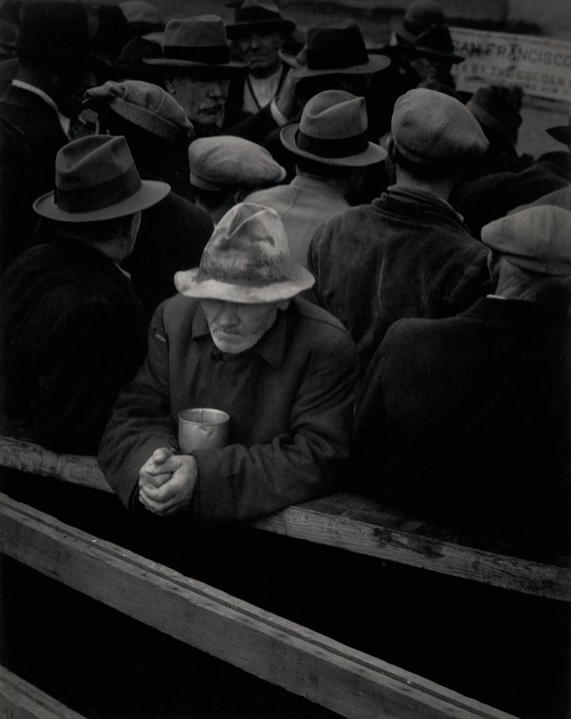DOROTHEA LANGE (1895-1965) White Angel Breadline.