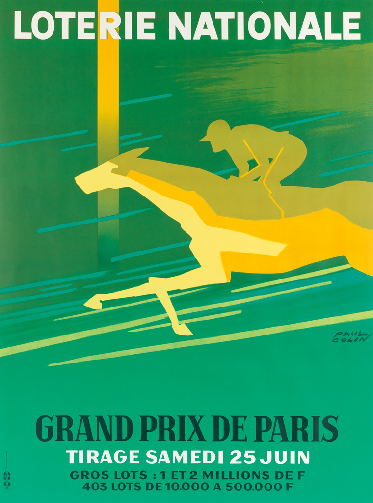 PAUL-COLIN-(1892-1985)-LOTERIE-NATIONALE--GRAND-PRIX-DE-PARI