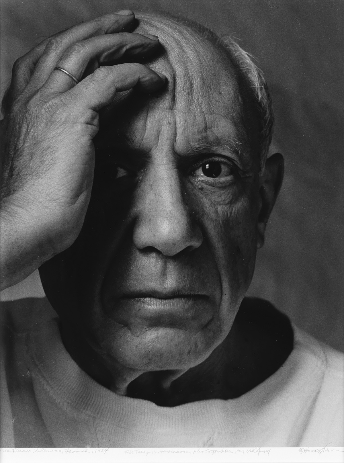 ARNOLD-NEWMAN-(1918-2006)-Picasso-Vallauris-France