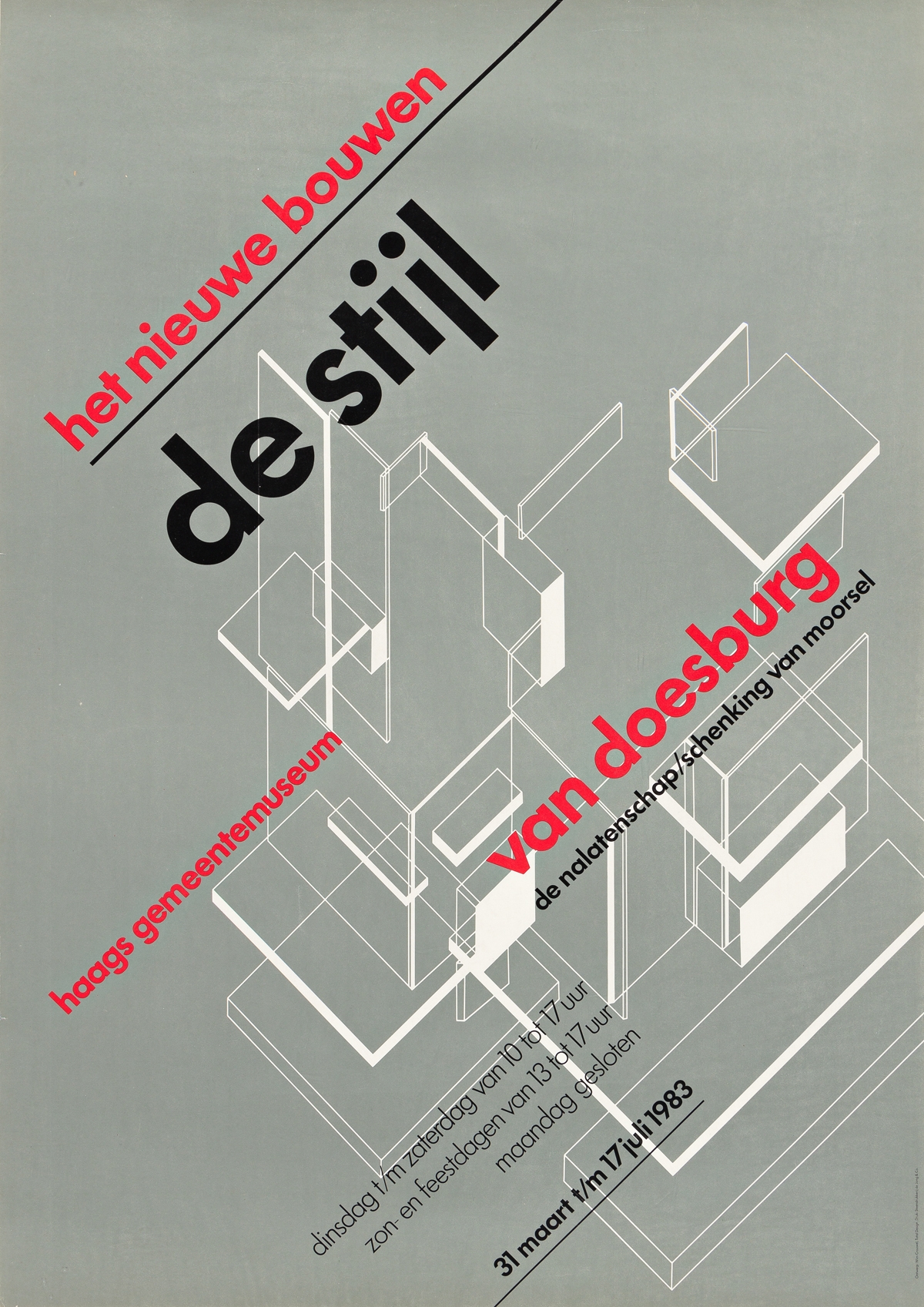 WIM CROUWEL (1928-2019).  [ARCHITECTURE EXHIBITIONS]. Group of three posters. Sizes vary, each approximately 31x22 inches, 78¾x55¾ cm.