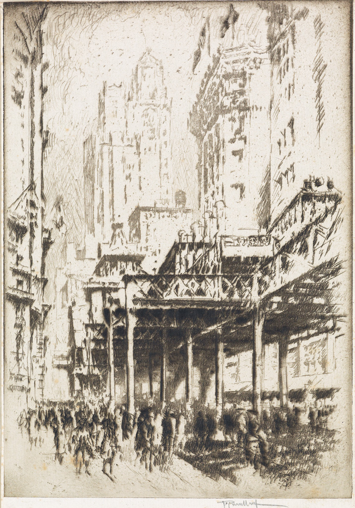 JOSEPH-PENNELL-Two-etchings