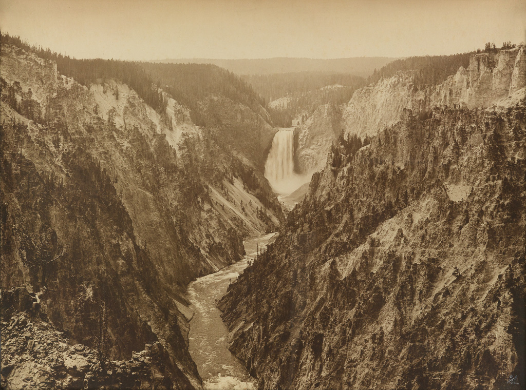 F. JAY HAYNES (1853-1921) Grand Canyon [of the Yellowstone] from Artists Point.