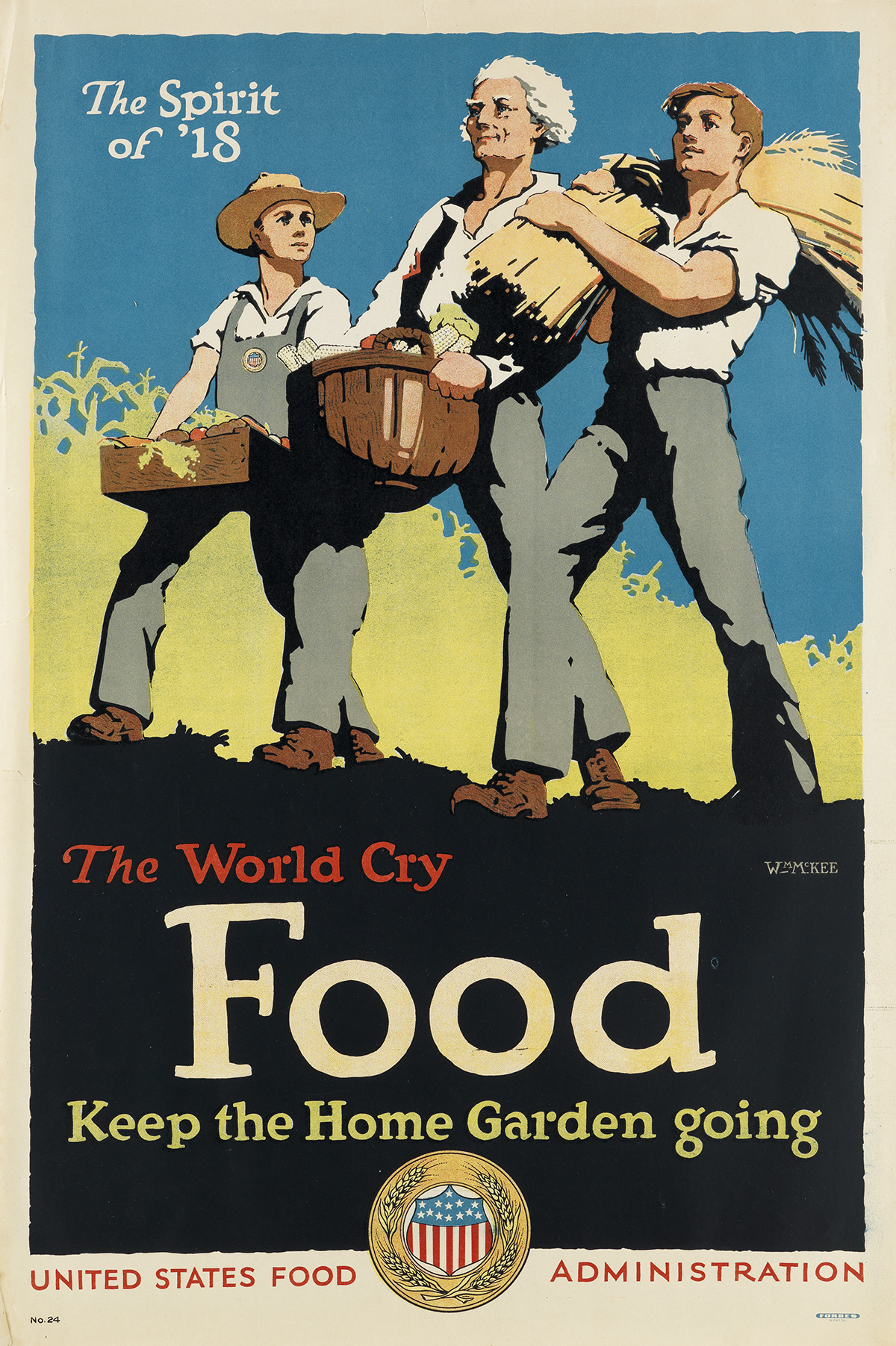 VARIOUS ARTISTS. [FOOD / WORLD WAR I.] Group of approximately 30 posters. Sizes vary.