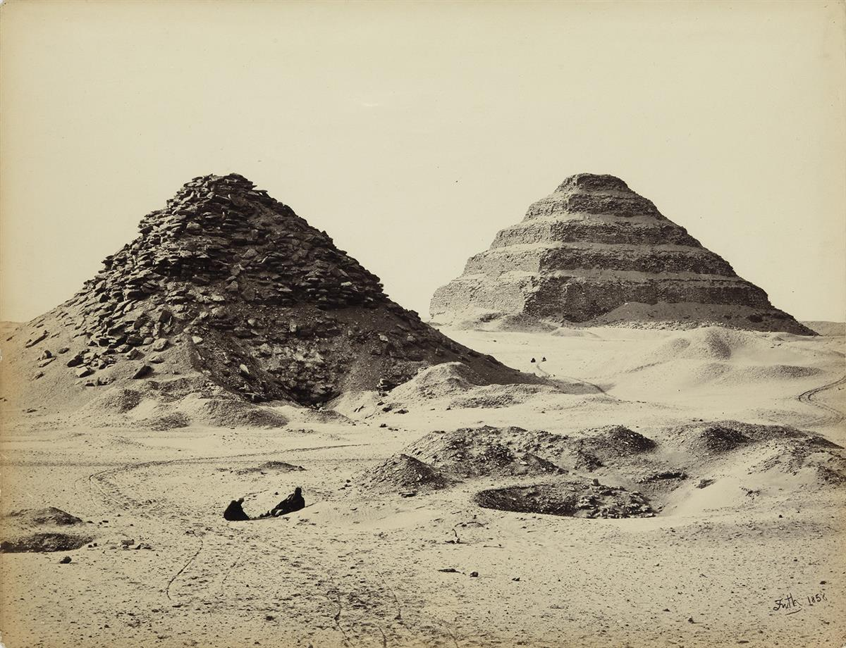 FRANCIS-FRITH-(1822-1898)-The-Pyramids-of-Sakkarah-from-the-