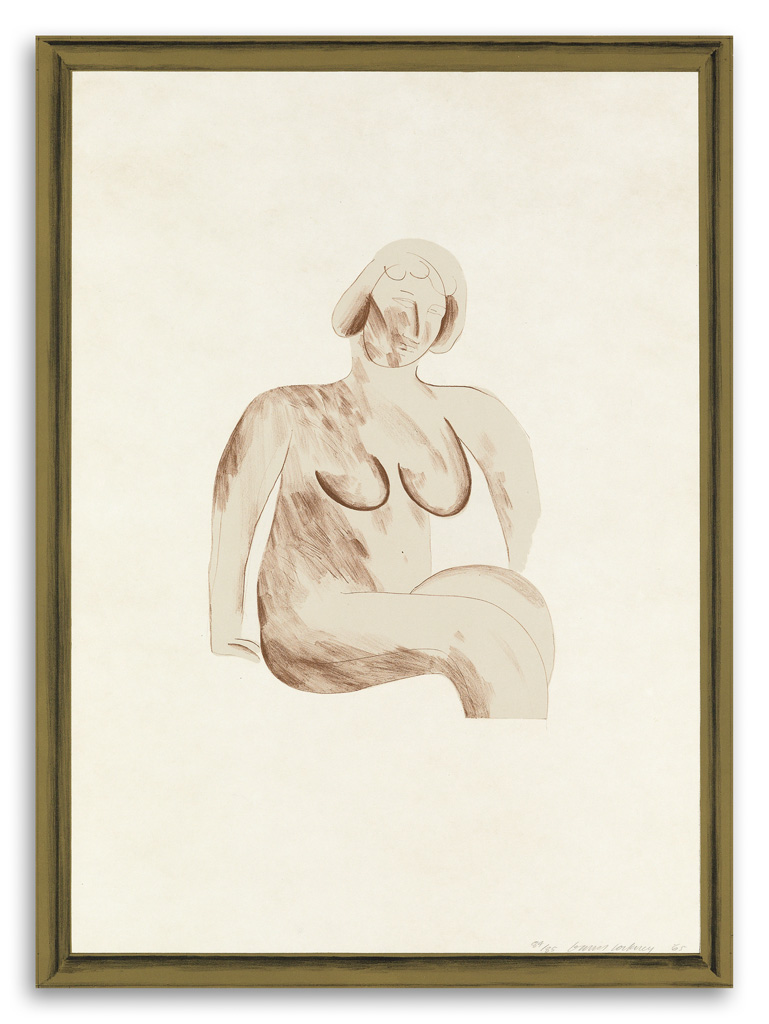 DAVID-HOCKNEY-Picture-of-a-Simple-Framed-Traditional-Nude-Drawing