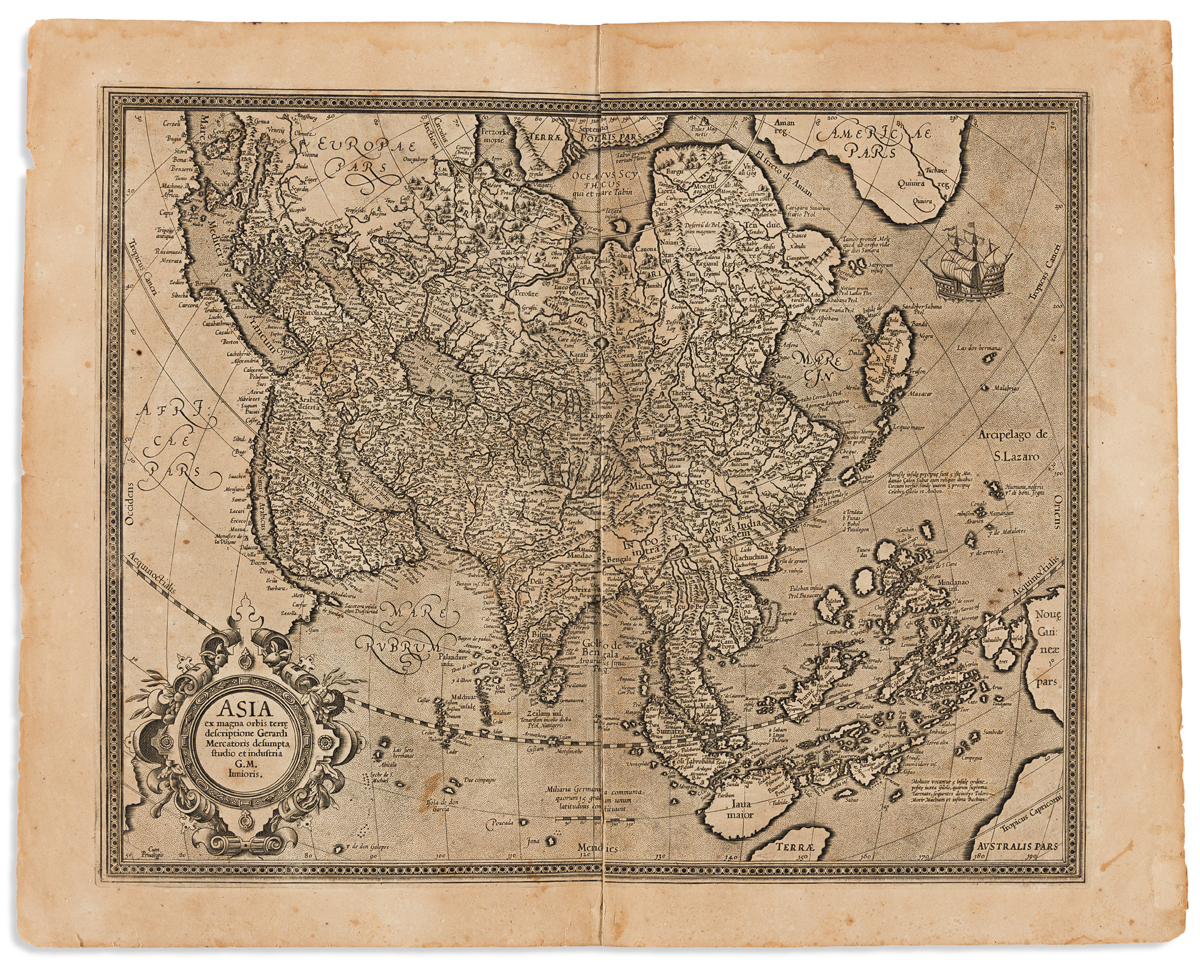 MERCATOR, GERARD; and HONDIUS, JODOCUS. Asia.