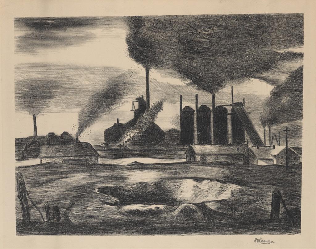 ROMARE BEARDEN (1911 - 1988) Untitled (Industrial Scene).