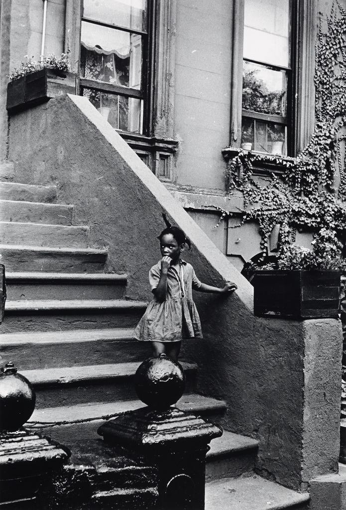 LOUIS-H-DRAPER-(1935---2002)-Untitled-(Young-Girl-on-Brownst