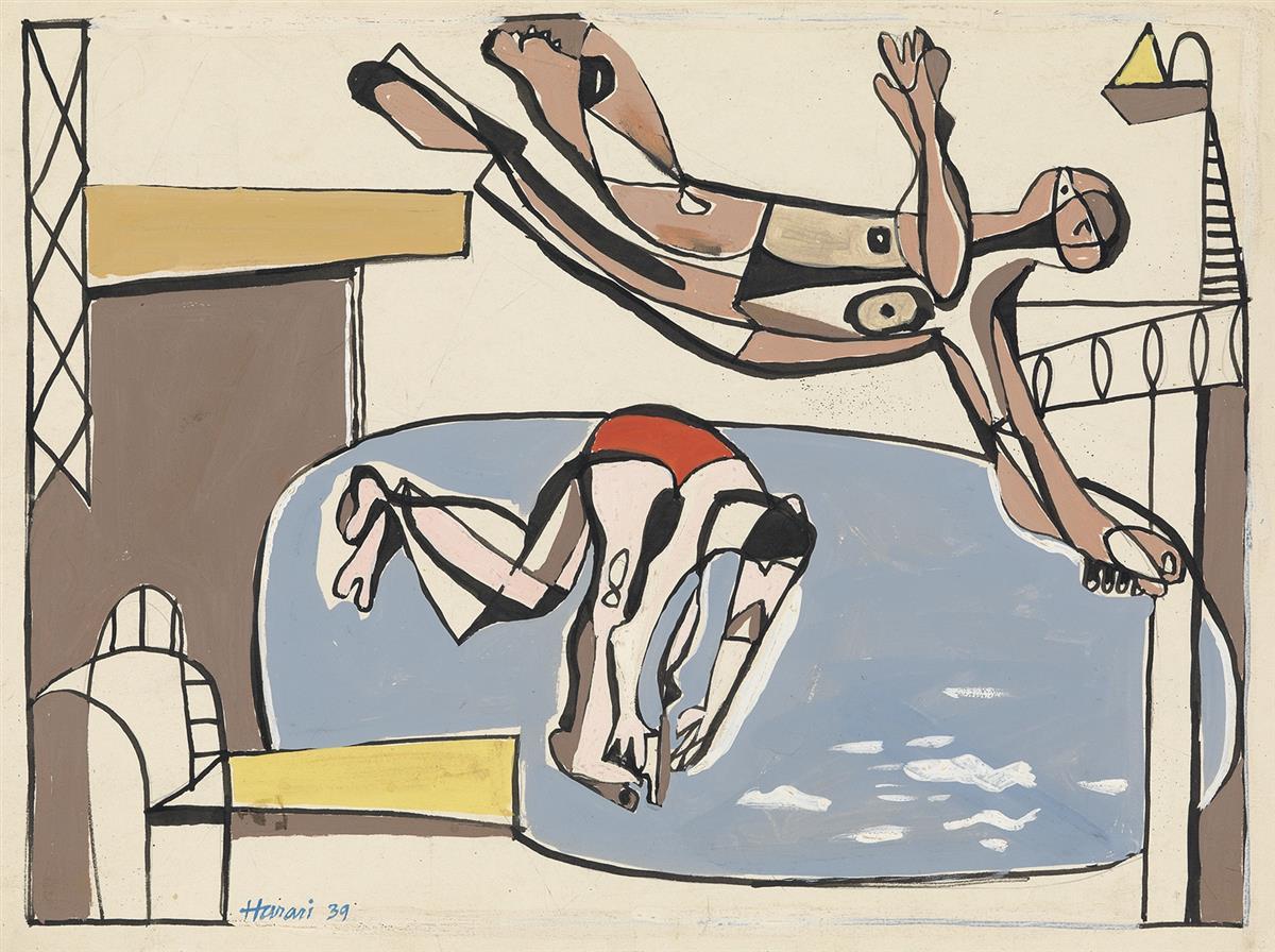 HANANIAH-HARARI-Swimming-Pool-with-Divers