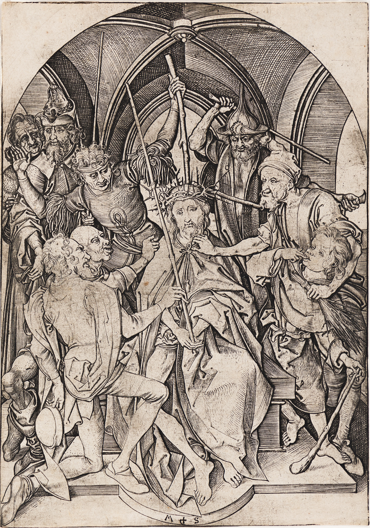 MARTIN SCHONGAUER Christ Crowned with Thorns.