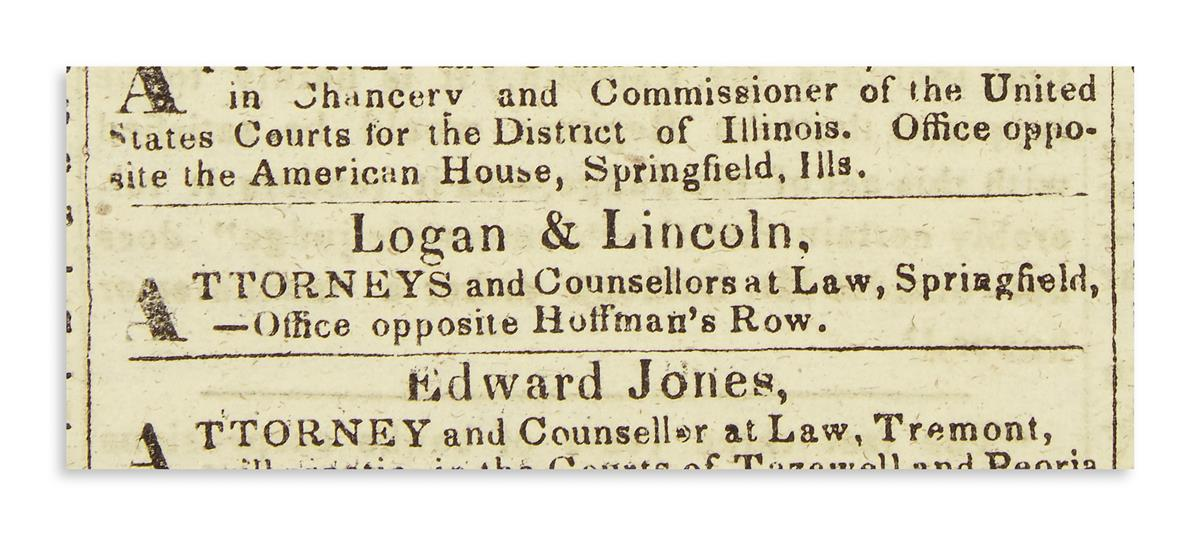 (EPHEMERA)-Group-of-4-newspapers-and-a-magazine-relating-to-Lincolns-early-career