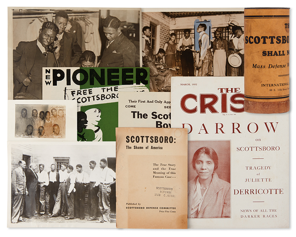 (CIVIL RIGHTS.) SCOTTSBORO BOYS. Group of material relative to the notorious Scottsboro case,