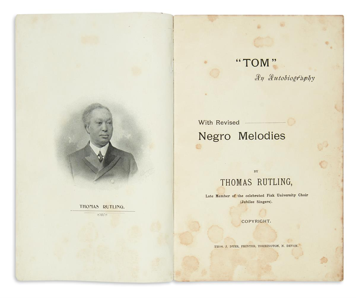 (SLAVERY-AND-ABOLITION)-Rutling-Thomas-Tom-an-Autobiography-