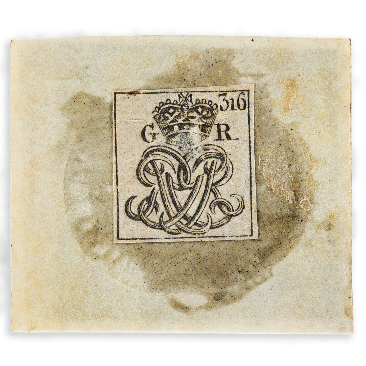 (AMERICAN-REVOLUTION--PRELUDE)-Stamp-from-the-Stamp-Act-of-1