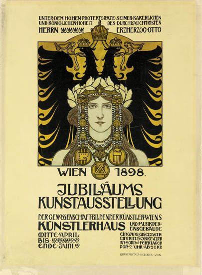 HEINRICH-LEFLER-(1863-1919)-JUBILÄUMS-KUNSTAUSSTELLUNG-1898-24x17-inches-61x45-cm-S-Czeiger-Vienna
