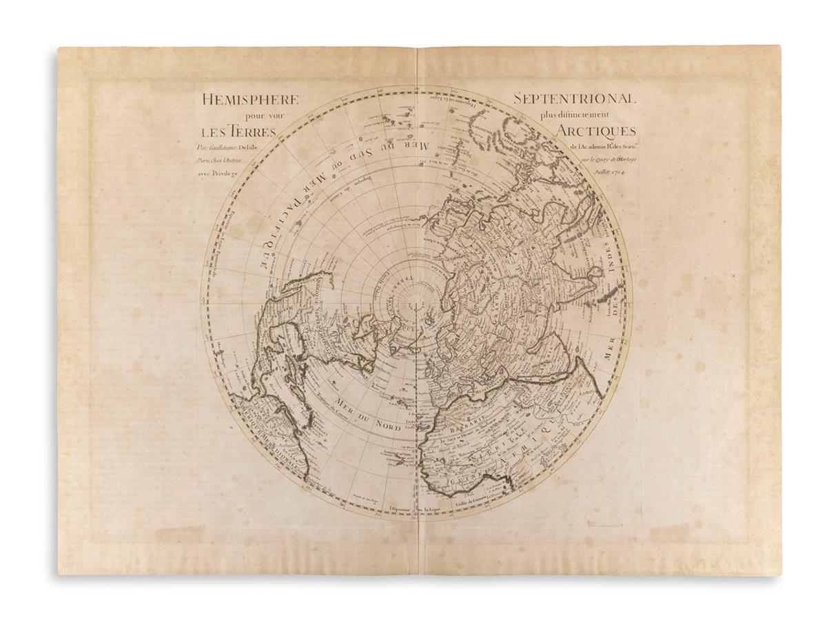 DE-LISLE-GUILLAUME-Hemisphere-Septentrional-Pour-Voir-Plus-Distinctement-les-Terres-Arctiques