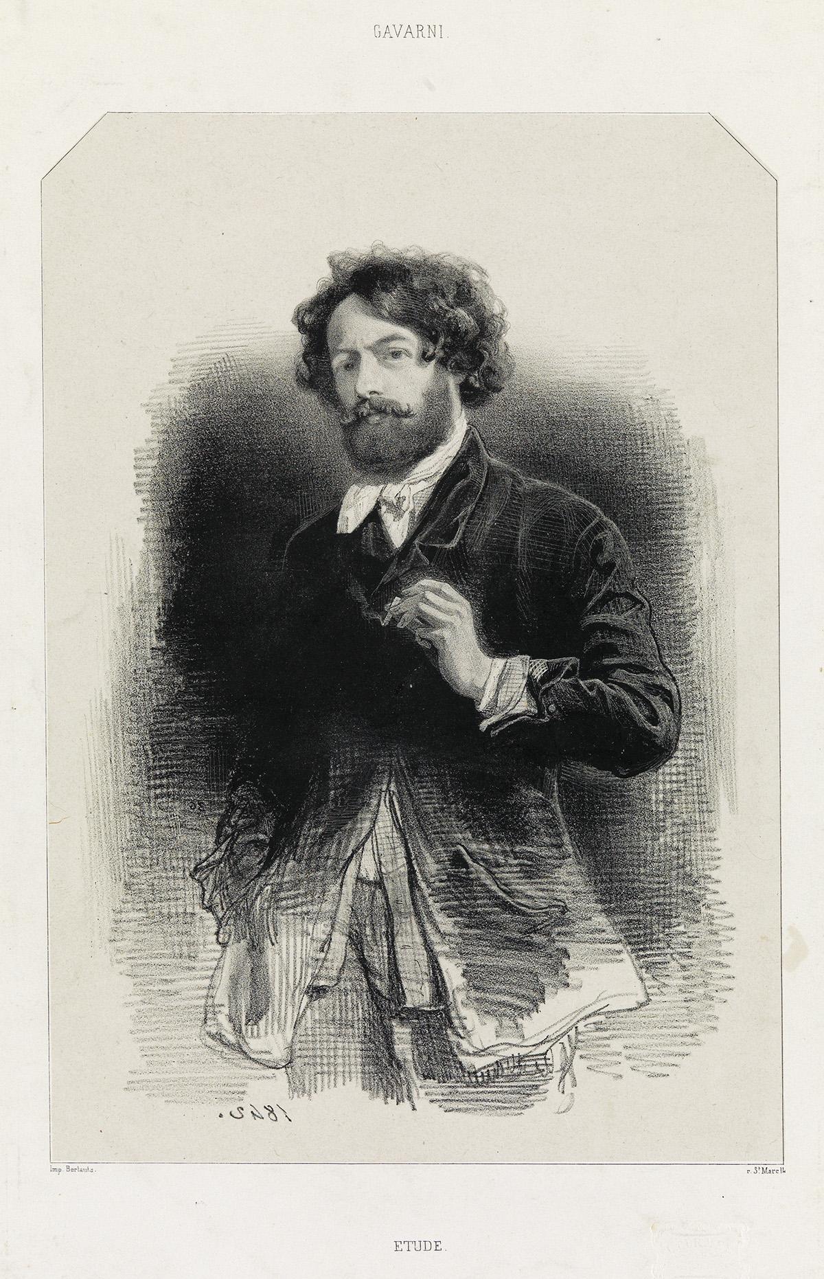 PAUL-GAVARNI-Group-of-8-lithographs