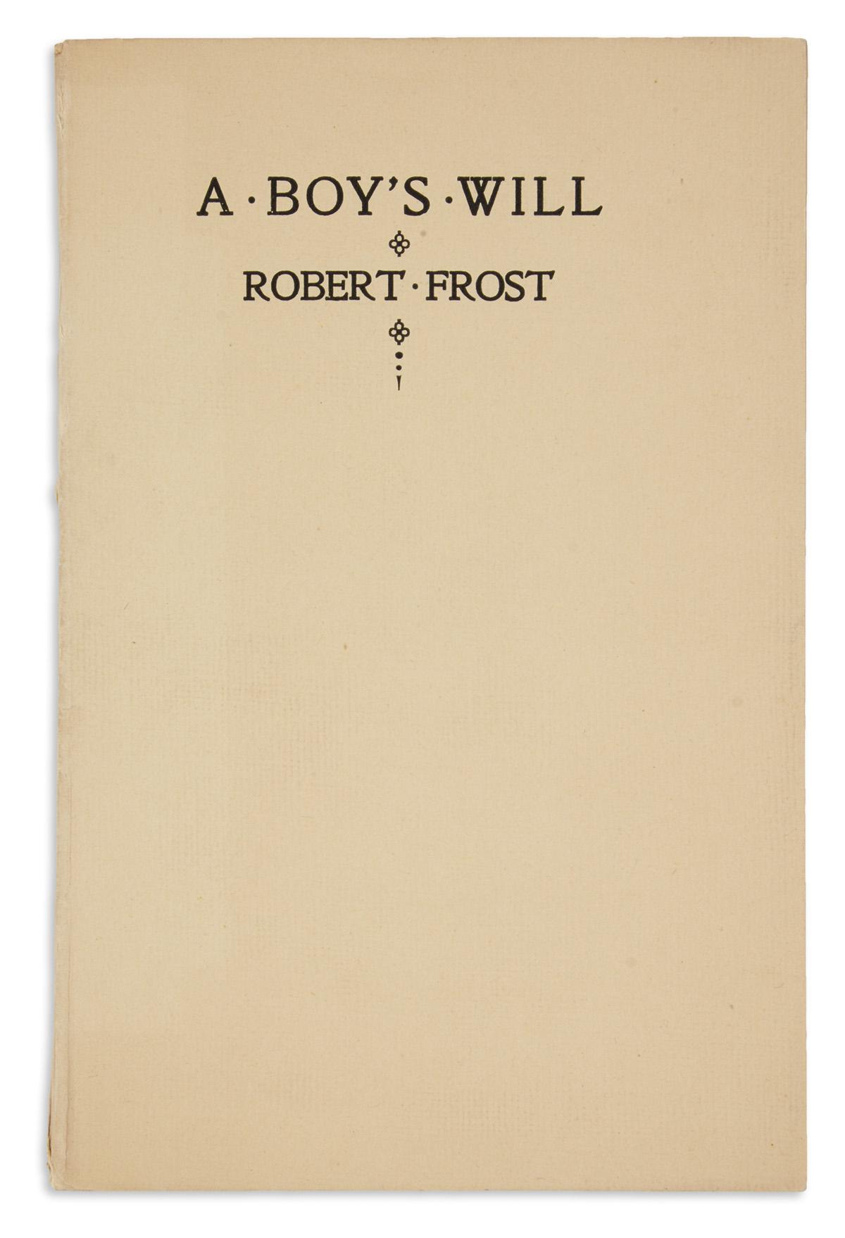 FROST-ROBERT-A-Boys-Will
