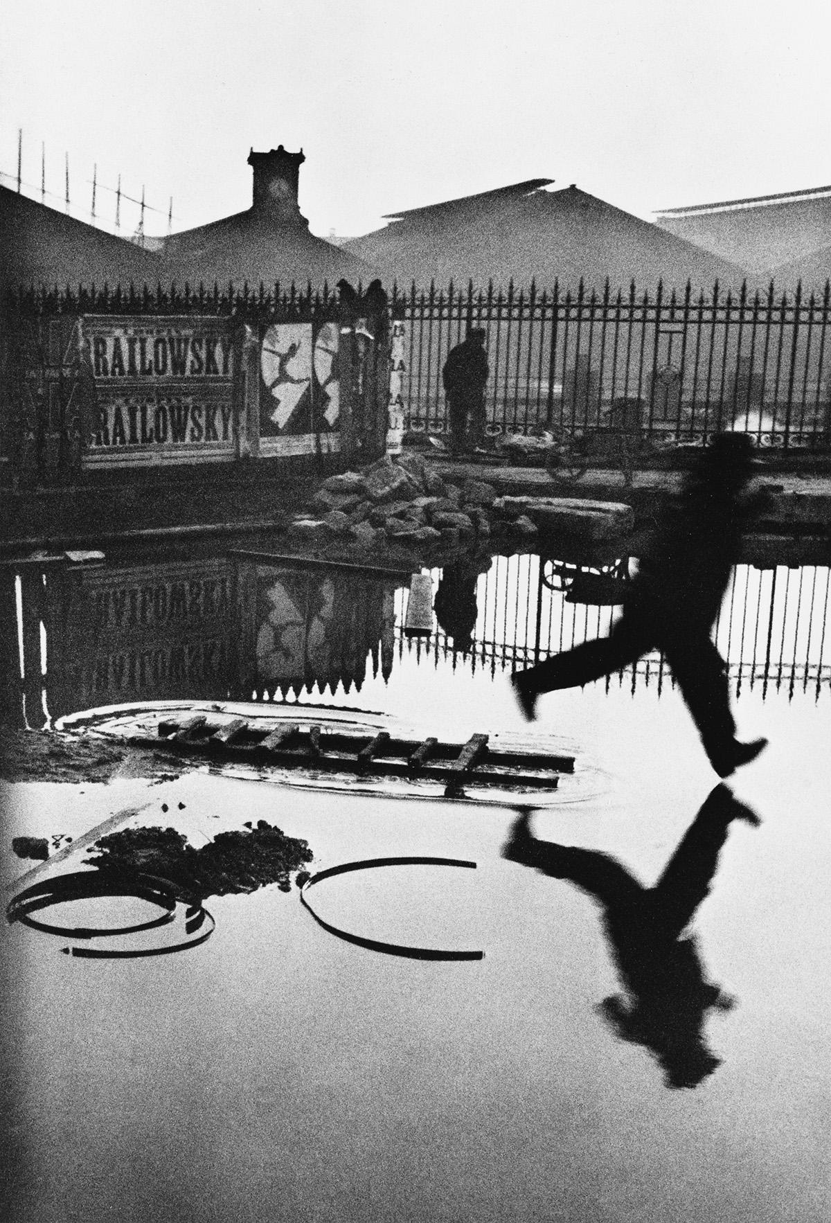HENRI CARTIER-BRESSON (1908-2004) Behind the Gare St. Lazare.