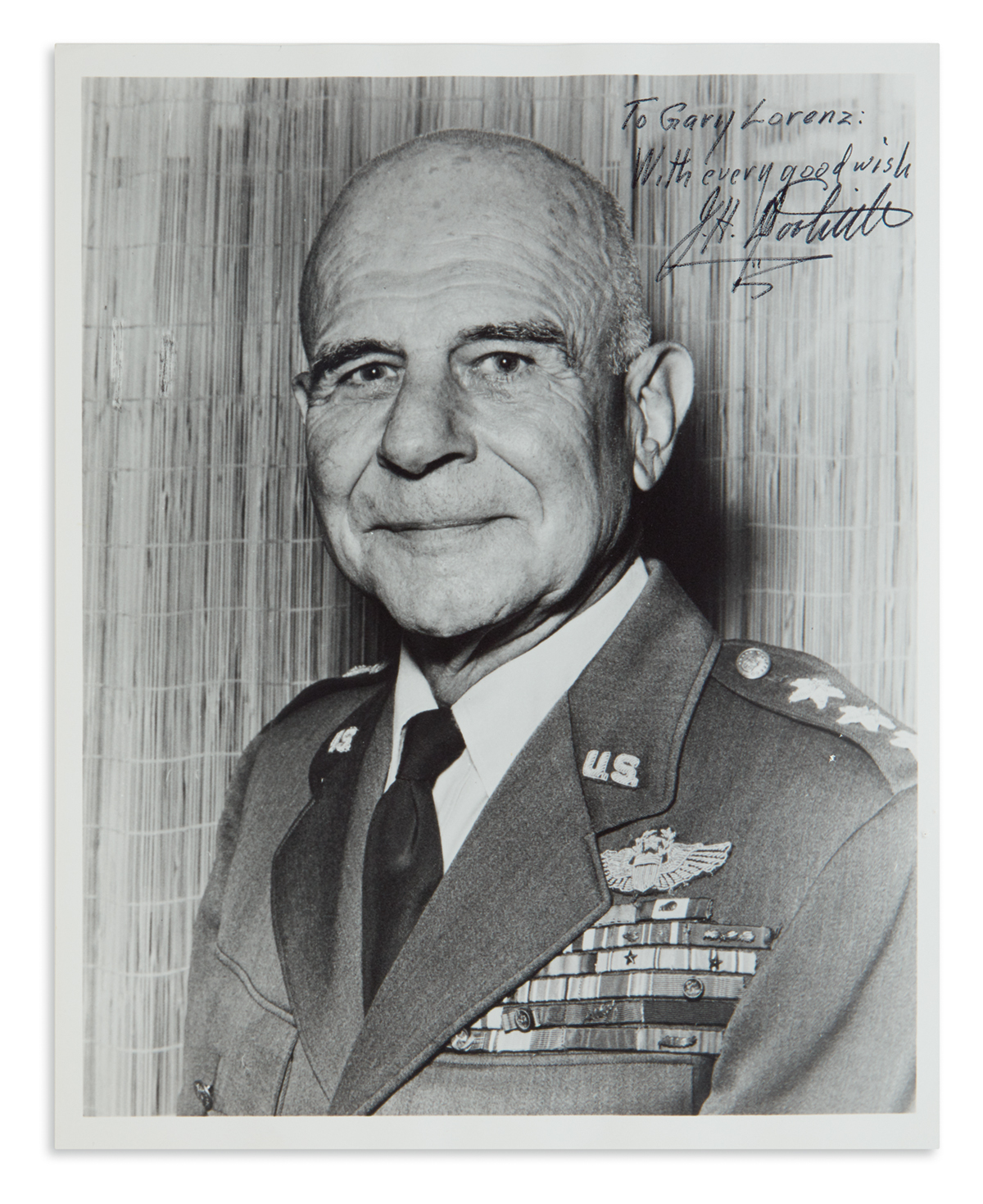 (WORLD-WAR-II)-JAMES-H-DOOLITTLE-Photograph-Signed-and-Inscr